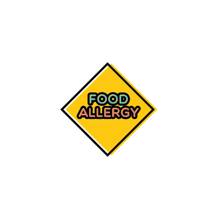 Food Allergy Caution Sign