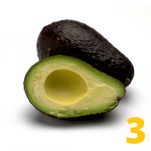 Step 3 Cut avocado in half and remove the pit