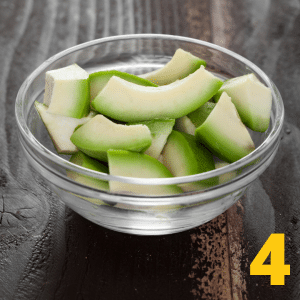 Step 4 Put avocado, lime juice and cilantro in a bowl