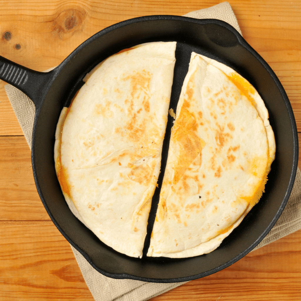 Baleada in a frying pan