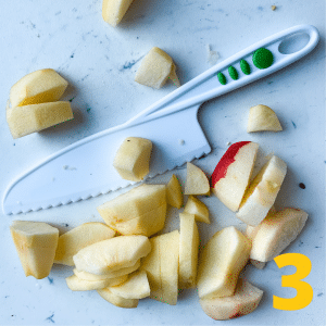 Step 3 Chop 6 apples. Granny Smith is best, but use whatever
