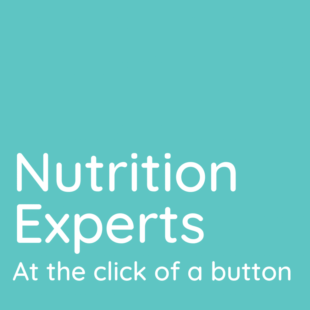 Nutrition experts at the click of a button