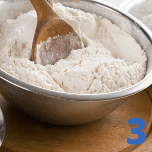 Step 3 Dip fries into flour bowl and shake off any extra