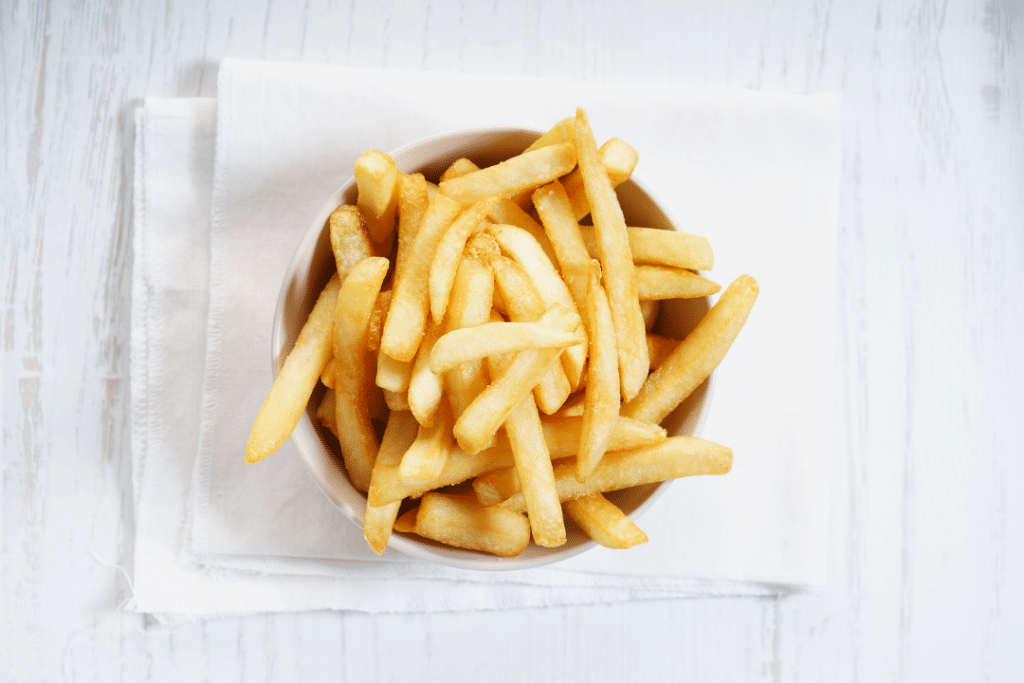 french fries as a first step to food chaining