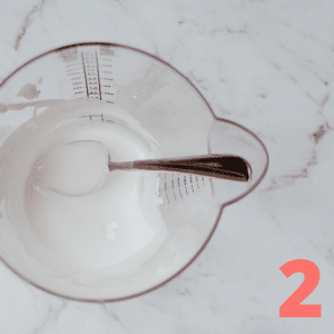 Step 2 Mix 1 cup half and half (or whole milk), 2 tbsp sugar and1 tsp of vanilla in quart sized bag