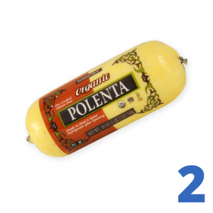 Step 2 Slice one tube polenta into 1/2 inch rounds, then into 'fries'