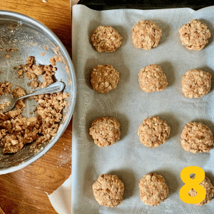 Step 8 Roll balls and space 2 inches apart on parchment-lined baking tray