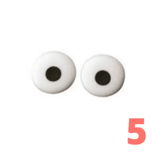 Step 5 Make eyes with a dot of frosting or cream cheese and a chocolate chip