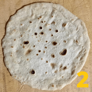 Step 2- lay out your tortilla flat