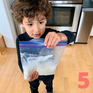 Step 5 Shake and squish for 5 to 10 minutes or until ice cream is firm