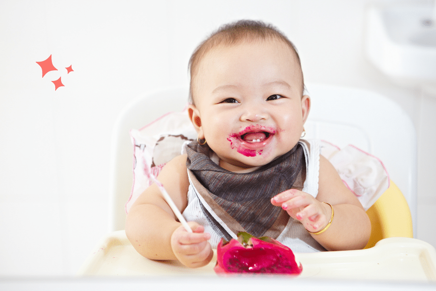 baby eating solid foods for the first time